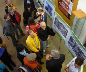 About 200 turned up during Saturday's open house on Burrard Bridge cycle lane options.