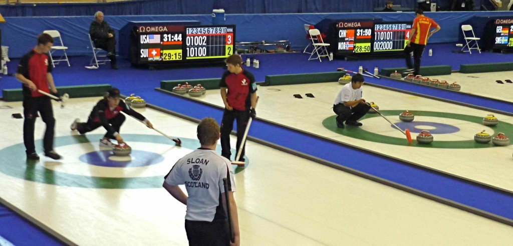 Canadian junion curling champions face off against Scotland.