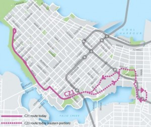The Downtown Bus Service Review proposes route changes and extensions.